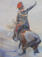 Pair of Victorian Watercolours The Hussars Artist George Clark (9 of 10)