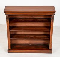 Victorian Mahogany Open Bookcase with Adjustable Shelves (4 of 8)