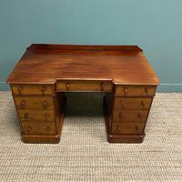 Quality Victorian Mahogany Antique Pedestal Desk (5 of 8)