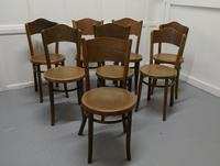 Harlequin Set of 8 French Bistro or Cafe Bentwood Chairs (2 of 7)