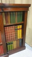 Victorian Mahogany Breakfront  Open Library Bookcase (6 of 7)