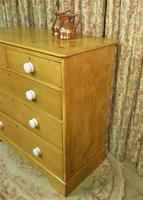 Victorian Stripped Pine Chest with White Porcelain Knobs - Carriage Paid  Most Areas (2 of 7)