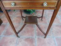 Maple & co Mahogany Inlaid Card Table / Games Table (6 of 14)