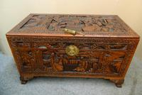 Oriental Carved Camphor Wood Trunk (2 of 7)