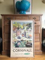 Original British Railways Poster Cornwall by Jack Merriott c.1950 (3 of 14)