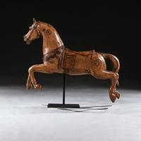 Antique Gustav Bayol Jumping Carousel Horse Late 19th Century (4 of 6)