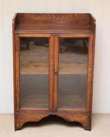 Small Proportioned Oak Glazed Bookcase (10 of 10)