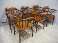 Set of 6 Red Walnut Captain's Chairs by W. Walker & Son (8 of 11)