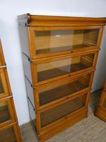 Set of Four Oak Globe Wernicke Bookcases (8 of 11)