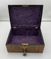 Victorian Inlaid Walnut & Tunbridge Ware Jewellery Box (7 of 14)