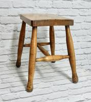 Antique Country Stool - Ash & Sycamore (3 of 5)