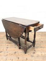 Antique Oak Drop Leaf Dining Table (10 of 13)
