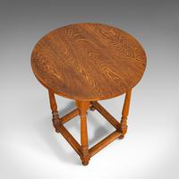 Antique Circular Occasional Table, English, Oak, Side, Lamp, Edwardian, C.1910 (2 of 12)