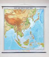 Large Vintage Westermann Wall Map of East & South-East Asia 1960's 'M-1747' (11 of 11)