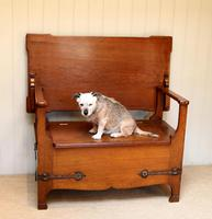 Arts & Crafts Solid Oak Monks Bench (12 of 12)