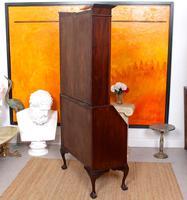 Secretaire Bureau Bookcase Astragal Glazed Mahogany Library Cabinet Edwardian (2 of 14)