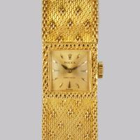 Vintage Rolex Precision 18ct Gold Bracelet Watch Ladies 1960s Rolex Watch with Box