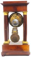 Fine Antique Flame Mahogany Mantel Clock French Striking Portico Mantle Clock (4 of 13)