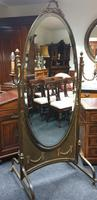 French Gilt Bronze Cheval Mirror (9 of 10)