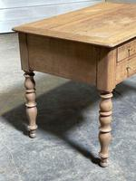 French Bleached Oak Writing Desk (5 of 21)