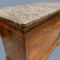 Figured Walnut Marble Top Commode (4 of 9)