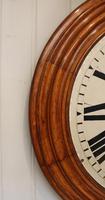 Rare 33 Inch Industrial Oak Wall Clock (3 of 10)