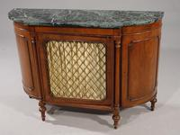 Attractive Early 20th Century Bow Ended Regency Style Mahogany Side Cabinet