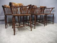 Set of 6 Red Walnut Captain's Chairs by W. Walker & Son (9 of 11)