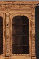 Carved Raw Oak Glazed Bookcase (14 of 21)