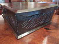 Early Period Antique Oak Deed Box c.1700 (3 of 7)