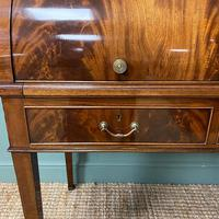 Superb Quality Victorian Antique Cylindrical Mahogany Desk by Maple & Co (10 of 12)