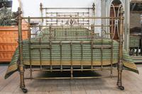 Handsome Victorian All Naturally Aged Brass King Size Bed (3 of 10)