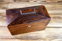 Early Victorian Rosewood Tea Caddy c.1840 (6 of 8)