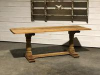 French Bleached Oak Farmhouse Dining Table (3 of 10)