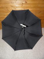 "Antique Solid Silver Intricate Detailed Handled Umbrella W/Black Canopy ""A.J.H"" (17 of 18)"
