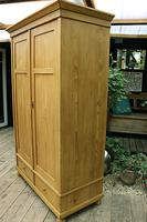 Quality! Large Old Pine Double 'Knock Down' Wardrobe - We Deliver! (5 of 17)