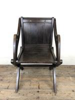 Unusual Antique Oak Gothic Armchair (3 of 9)