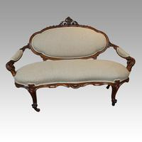 Victorian Walnut Love Seat (8 of 9)