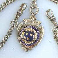 Solid Silver Double Watch Albert / Albertina 40g c.1904 (3 of 4)