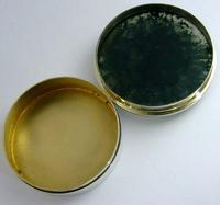 Super Rare English Solid Sterling Silver Moss Agate Snuff Box 1912 Antique (2 of 9)