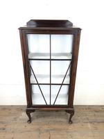 Antique Edwardian Single Door Display Cabinet (5 of 9)