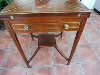 Maple & co Mahogany Inlaid Card Table / Games Table (9 of 14)