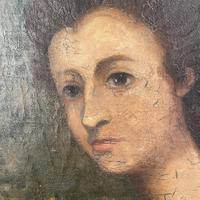 Antique Georgian Early Victorian Oil Painting Portrait of a Society Lady (7 of 10)