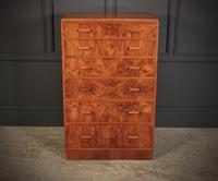 Art Deco Figured Walnut Chest by Maple & Co. (8 of 13)