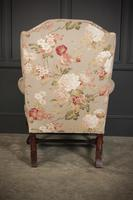 Chippendale Style Floral Upholstered Wing Chair (13 of 16)