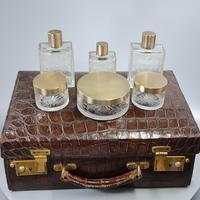 Exceptional Asprey HM Silver Gilt Fittings in Leather Case c.1935 (6 of 27)