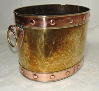 Victorian Copper & Brass Log Bin (2 of 5)