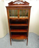 Art Nouveau Mahogany Cabinet Bookcase (3 of 7)