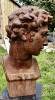 Weathered Cast Iron Statue of Michelangelo's David (4 of 8)