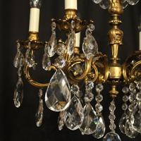 Italian 6 Light Gilded Antique Chandelier (6 of 10)